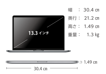 MacBook Pro Retina 13インチ Z0W7 画像2