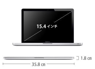 MacBook Pro Retina 15インチ ME293J/A サイズ