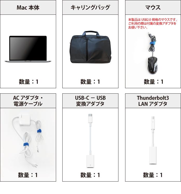MacBook Pro Retina 15インチ MPTV2J/A 付属品の一覧