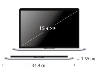 MacBook Pro Retina 15インチ MR962J/A サイズ