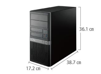 MousePro T310X(i9/32GB/SSDモデル) サイズ