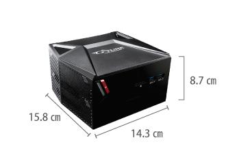 マウスコンピューター NEXTGEAR-C ic100GA2 サイズ