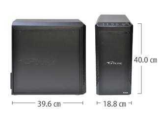 マウスコンピューター NEXTGEAR-MICRO im620PA2-SP レンタル サイズ