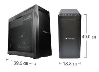 サイズ画像 マウスコンピューター NEXTGEAR-MICRO im620PA2-SP-DL