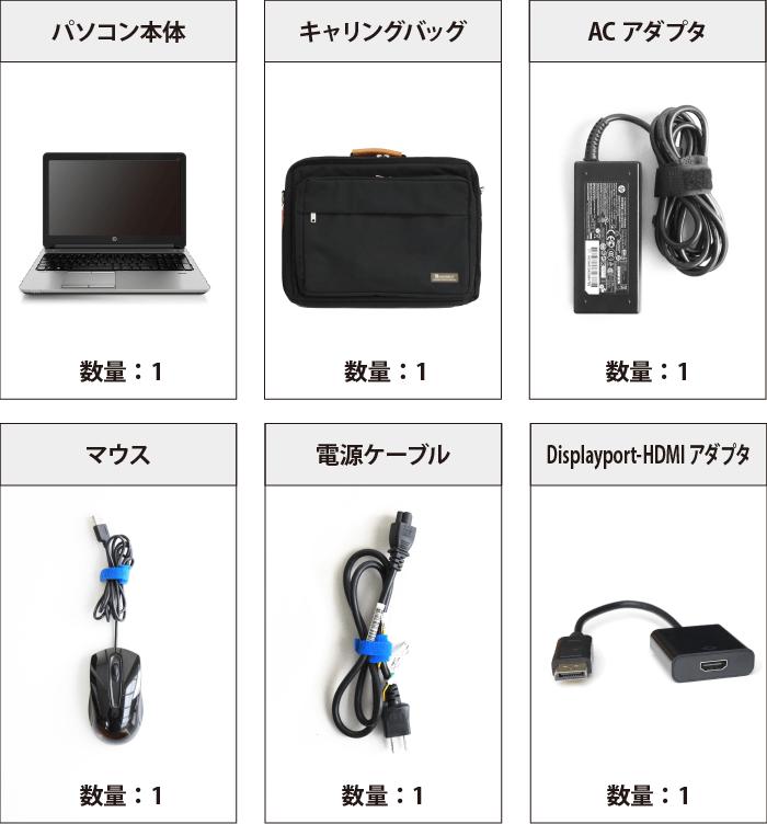Core i7(メモリ8GB)SSDモデル(HDMI変換付き)【Office Pro 2016】 付属品の一覧