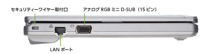 Panasonic レッツノート CF-SZ6 (メモリ4GB/SSD 250GBモデル)(左側)