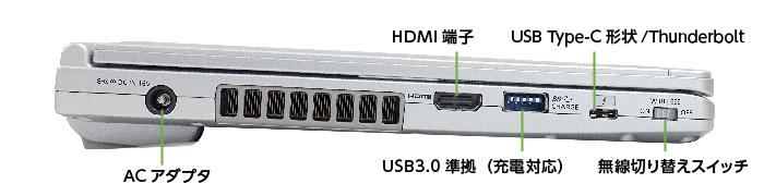 Panasonic レッツノート CF-SV7HD4VS (メモリ8GB/SSD 256Bモデル)(左側)