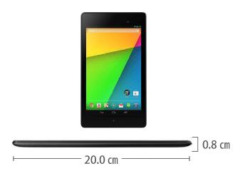 Google Nexus 7(2013) サイズ