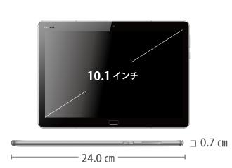 MediaPad M3 lite 10 SIMフリーモデル サイズ