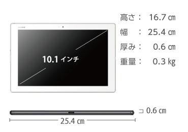 SONY Xperia Tablet Z4 SGP712JP/W 画像2