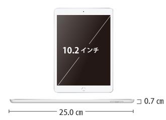 iPad 第7世代 10.2インチ 32GB Wi-Fi シルバー サイズ