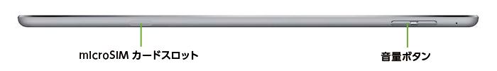 iPad Air2 16GB SIMカードセット(容量10GB/月)(右側)