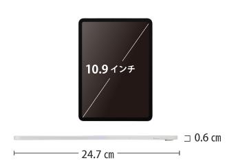 iPad Air 10.9インチ 第4世代 64GB Wi-Fi サイズ