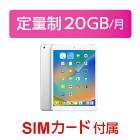 iPad 第8世代 10.2インチ 32GB SIMカードセット(容量20GB/月)