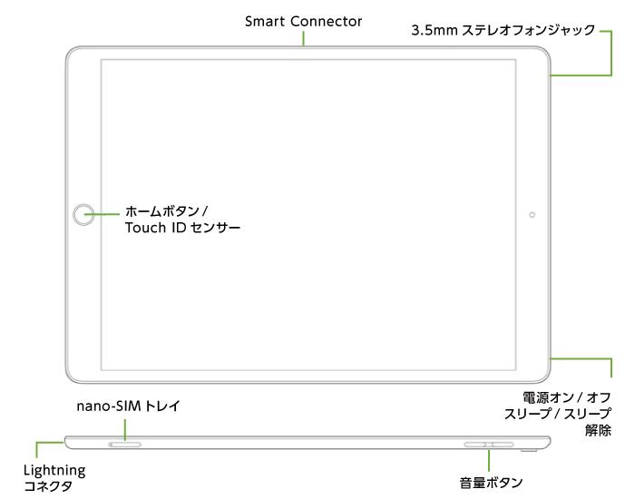 iPad Pro 第2世代 12.9インチ 64GB  SIMカードセット(容量20GB/月)(全体)