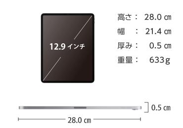iPad Pro 第3世代 12.9インチ 256GB SIMカードセット(容量20GB/月) 画像2