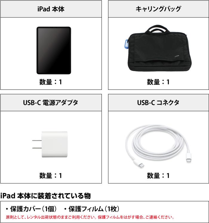 iPad Pro 第1世代 11インチ256GB Wi-Fi 付属品の一覧