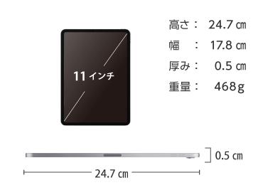 iPad Pro 第1世代 11インチ256GB Wi-Fi 画像2