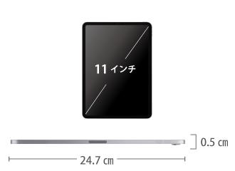 iPad Pro 11インチ 256GB SIMカードセット(容量20GB/2月) サイズ