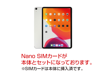 iPad Pro 11インチ 256GB SIMカードセット(容量20GB/2月) 画像0