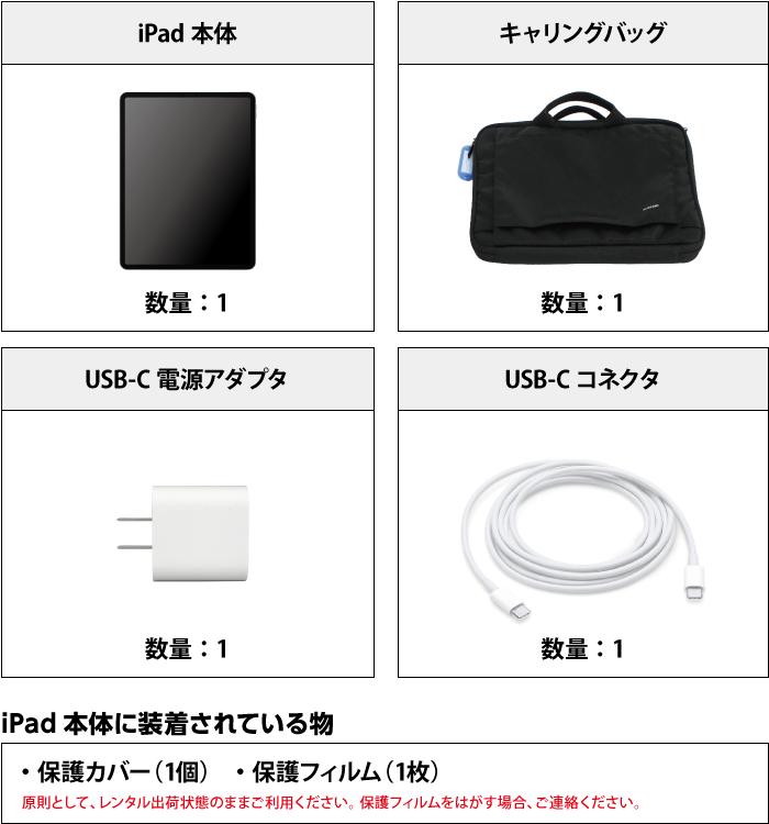 iPad Pro 第3世代 12.9インチ256GB Wi-Fi 付属品の一覧