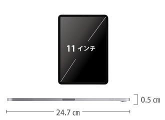 iPad Pro 第2世代 11インチ 256GB Wi-Fi サイズ