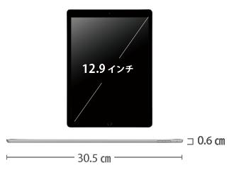 iPad Pro 第1世代 12.9インチ 32GB Wi-Fi サイズ