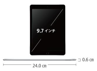 iPad Pro 9.7インチ 32GB Wi-Fi サイズ