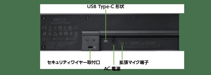 ロジクール MEETUP(Web会議用カメラ付マイクスピーカーフォン)(背面)