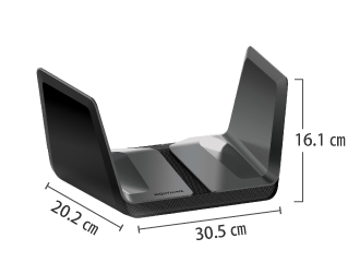 Wi-Fi6対応ルーター Nighthawk AX8 サイズ
