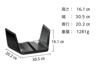 Wi-Fi6対応ルーター Nighthawk AX8 画像2