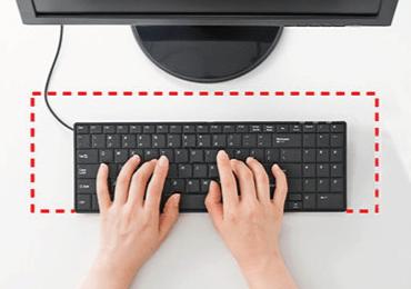 英語配列USBスリムキーボード/テンキー付 画像1