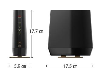 Wi-Fi6対応ルーター WSR-5400AX6 サイズ
