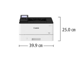 A4モノクロレーザープリンタ Canon LBP221 サイズ
