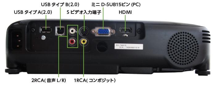 EPSON EH-TW410(背面)