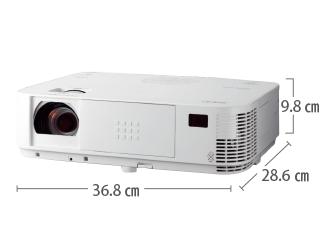 NEC NP-M402HJD フルHD対応 サイズ