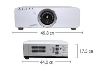 Panasonic PT-D6000 サイズ