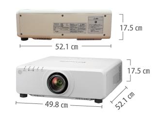 Panasonic PT-DW750J サイズ