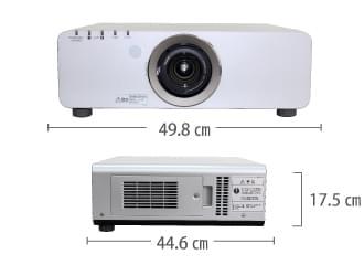 Panasonic PT-DX800S サイズ