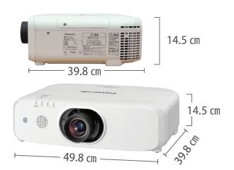 Panasonic PT-EW650J サイズ