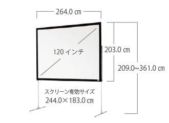 120インチ スクリーン サイズ