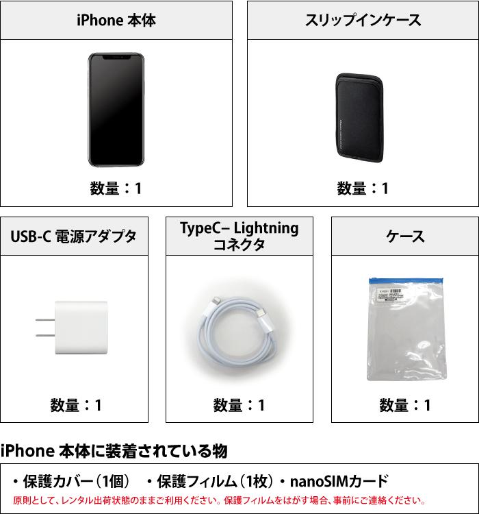 Apple iPhone11Pro 256GB  シルバー(データ通信専用 ※音声通話不可) 付属品の一覧