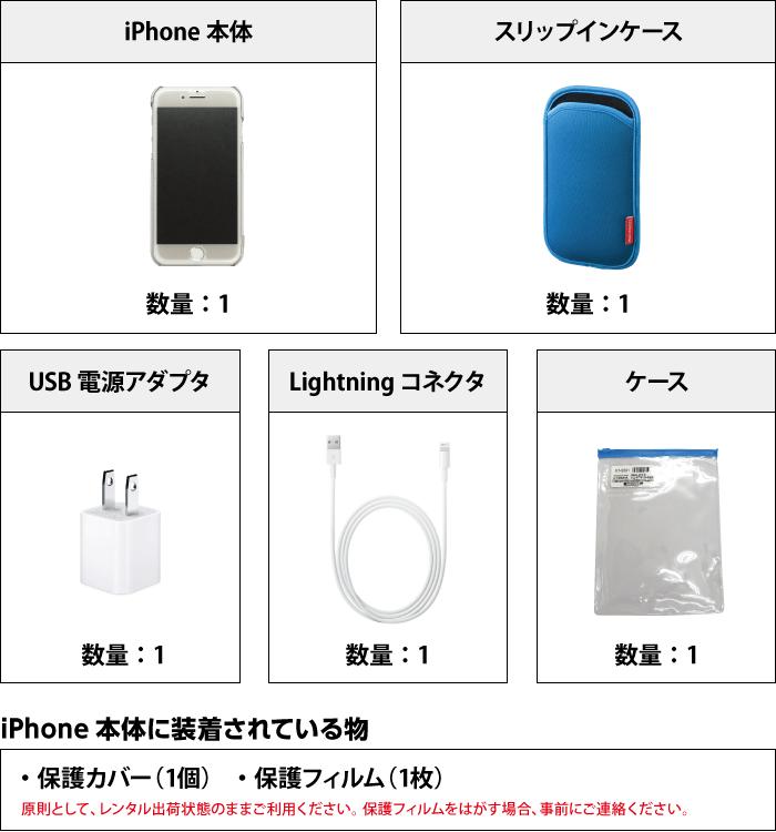 Apple iPhone7 32GB  シルバー (データ通信専用 ※音声通話不可) 付属品の一覧