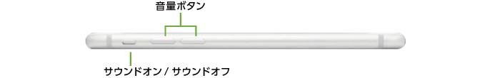Apple iPhone7 32GB  シルバー (データ通信専用 ※音声通話不可)(左側)