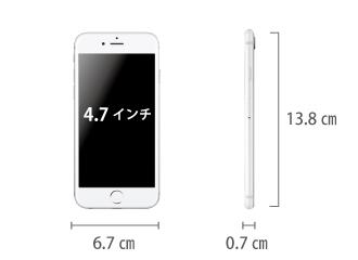Apple iPhone7 32GB  シルバー (データ通信専用 ※音声通話不可) サイズ