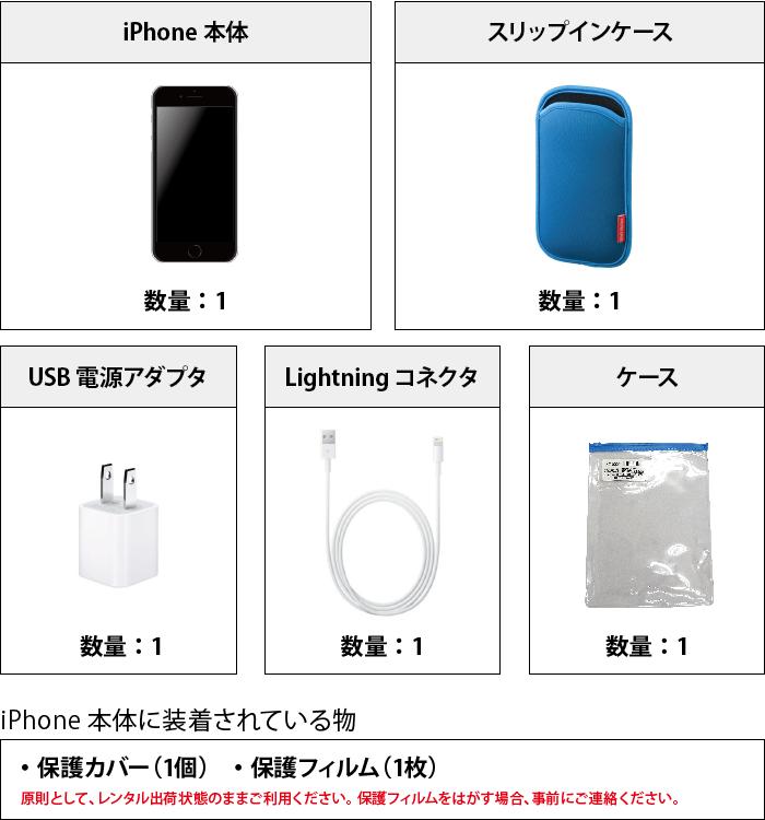 Apple iPhoneSE(第2世代)64GB  ホワイト (データ通信専用 ※音声通話不可) 付属品の一覧
