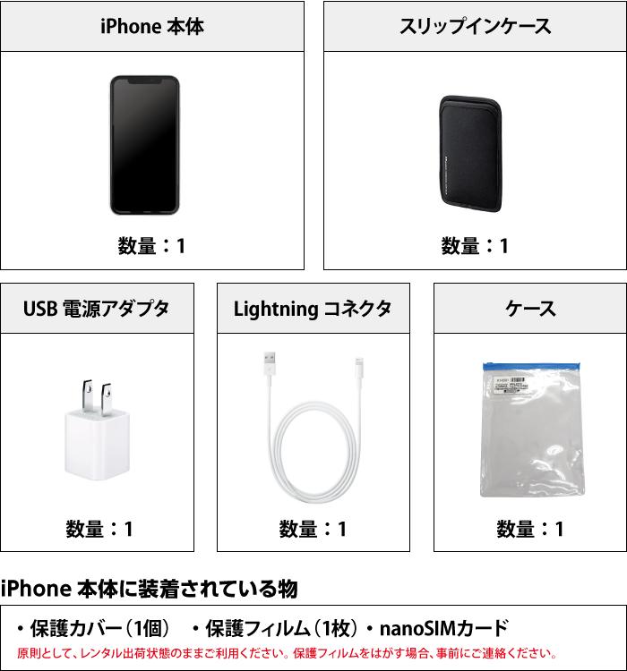 Apple iPhoneXR 128GB  ホワイト (データ通信専用 ※音声通話不可) 付属品の一覧