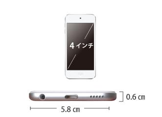 Apple iPod touch 32GB (第7世代) サイズ