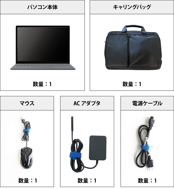 Microsoft Surface Laptop 付属品の一覧