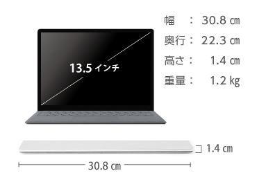 Microsoft Surface Laptop 画像2
